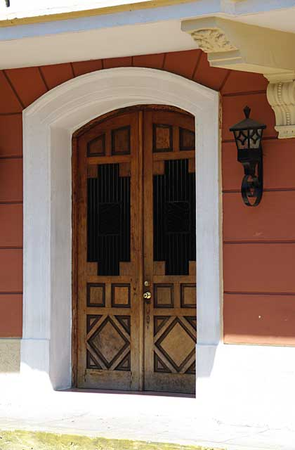 Photo of an old door in the Colonial part of Panama City, Panama