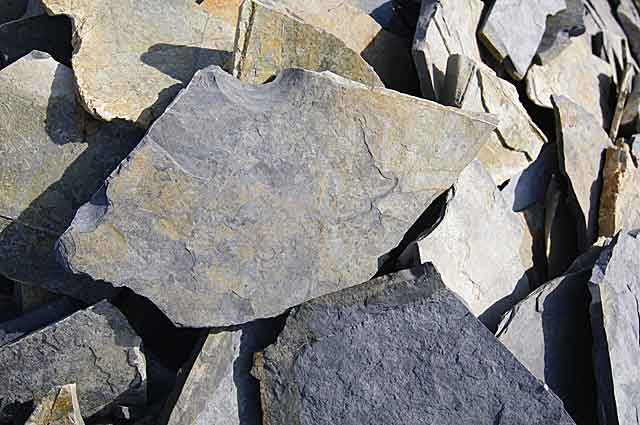 Natural stones available in a variety of color tones from light beige to grey to dark grey until almost black